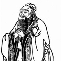 Line drawing of a man
