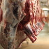 Cuts of meat hanging up