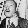 Photo of Martin Luther King Jr speaking