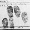 Fingerprints of Rosa Parks taken at her arrest