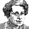 Drawing of Hannah Arendt