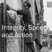 Integrity, Speech & Action logo
